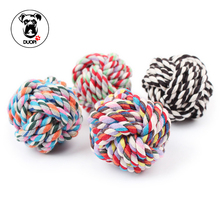 Duopi New Pets Rope Ball Toys Bite Ball Colorful Dog Interactive Toys Teeth Clean Wool Ball Pet Puppy Chew Toys Color Random