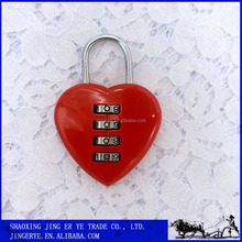 Security Digital Lock, love heart shaped Zinc Alloy Combination Lock