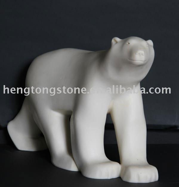 White abstract animal statue
