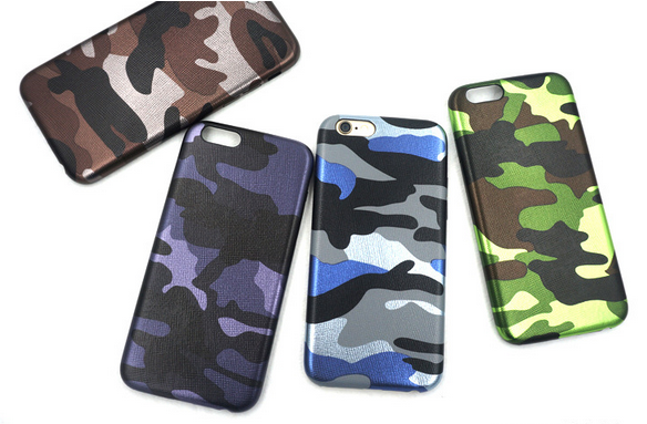 New arrival Camouflage pu leather phone case for iphone