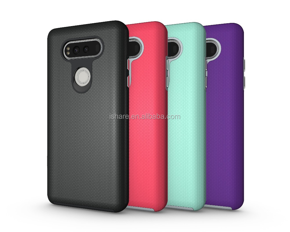Matted Hand feeling Anti-drop Electroplated Button Rubber Finished Protective Case for LG V20 Rugged Case