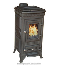 Antique Wood Burning Stove With Heating Top