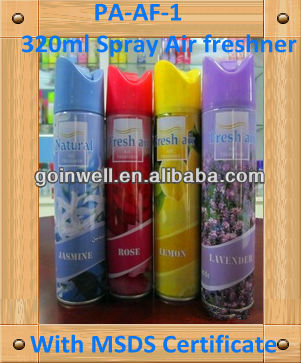 320ml Good quality Spray Air freshener,aerosol spray,aerosol air freshener for odorless