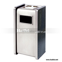 Hotel lobby stainless steel fire retardant rubbish bin/ash barrel
