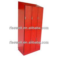 red 2 tier 6 doors electronic locker system
