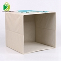 living room Children's cartoon clothing storage bin polyester kids toy storage box with lid and handles