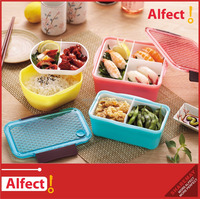Wholesale Kid lunch box with silicone ring and lock