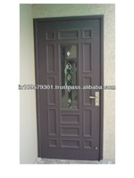Multi Panel Solid Wood Door with glass panel