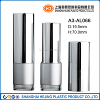 Special silver aluminum lipstick tube with clear base