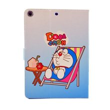 Cute Cartoon Doraemon PU Leather Smart Cover Case with Emboss inside for ipad air iPad 4 3 2 Free Shipping