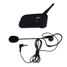 V6C Referee/Motorcycle Bluetooth Helmet Headset 1200M Wireless BT Interphone Motorcycle Intercom Headphones for 6 Runners