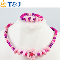 2015 HOT! The children's gift! Wholesale children/kid fashion Lovely jewelry set Young flower necklace bracelet