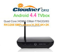 High Quality Cloudnetgo CR12 Android 5.0 TV Box RK3288 Quad Core Ultra 4K Mali T764 1.8GHz Support XBMC kodi Youtube 3D Game