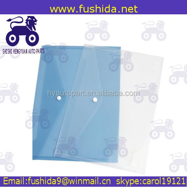 Office Stationery OEM factory clear book file folder with Stick-up Button