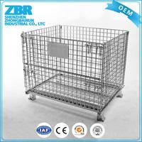 Cheap turnover collapsible metal wire mesh pet cage crate