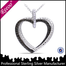 Heart shaped 925 sterling silver thailand jewelry manufacturer