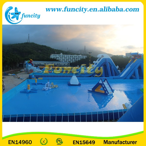 Adults Inflatable Water Park Toys / Frame Swimming Pool CE Approved