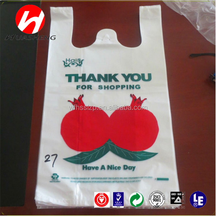 T SHIRT BAG BIO DEGRADABLE & COMPAST MATERIAL PLASTIC BAG