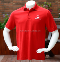 promotion Custom strong color polo t shirts embroidered