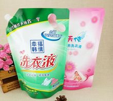 Wholesale stand up spout pouch detergent powder packing bags