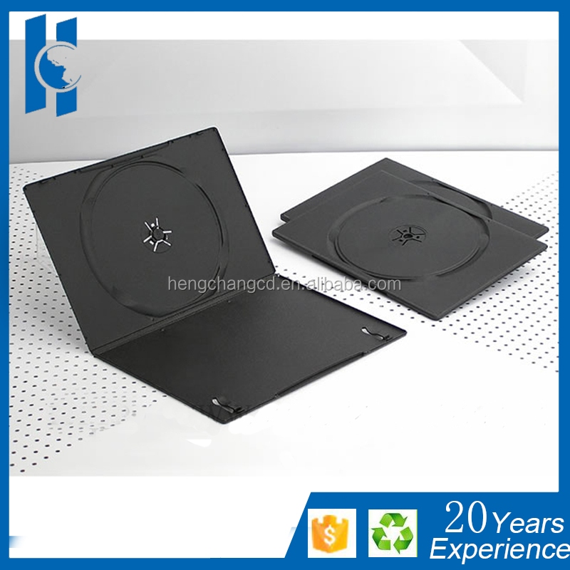 DVD Case Single Double 7mm black case for DVD CD