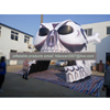 giant outdoor used inflatable skull sports tunnel