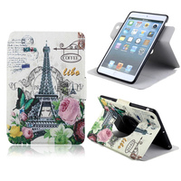 For iPad Mini 1 2 case Ultra Thin Magnetic PU Leather Stand Case With Card Holder Cover Customize Printed for iPad Mini 1/2 case