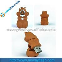 PVC cartoon animal usb flash stick fashion