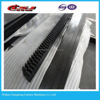 Outdoor elevator construction parts rack and pinion