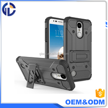 wholesale 2 in 1 hybrid phone case for LG LV5,kick stand case for LG K20 Plus / k10 2017 shockproof phone case