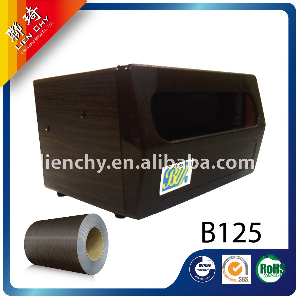 B125 Black Sandalwood laminated steel sheet / coil for dispenser metal