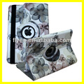 Flower Rotating Case for iPad mini 360 Leather Cases with Magnetic Swivel Stand for Apple iPad mini Smart Cover