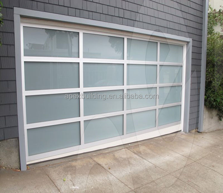 frosted or clear glass garage door automatic modern