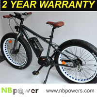 Best fat tyres beach e-cycle bike on the market with 8Fun mid drive motor