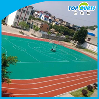 Polypropylene interlocking sports flooring playground courts used floor