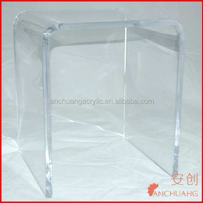 Waterproof Acrylic Shower Stool Lucite Shower Bench