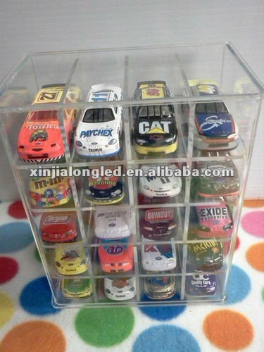 1/64 Acrylic Display Case Hot Wheels Redline / NAascar Holds 20 Desk Top Acrylic Model Car Display Case