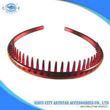 High quality hair band accessories popular hair hoop plastic headbands with teeth