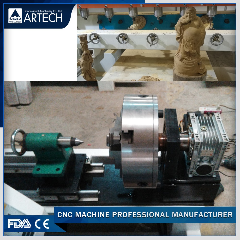 china wood 4th axis rotary on machine side wood cnc router