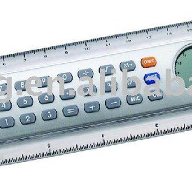 HOT SALE ruler calculator with digital clock