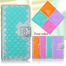 Luxury Shining bling diamond flip leather case for Galaxy S6