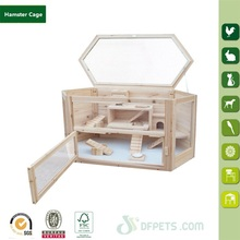 Products For Pet Shop Natural Wood Hamster Cage DFH-002