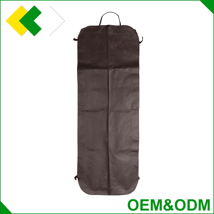 wholesale breathable dustproof storage nonwoven garment bag travel foldable fabric plastic non woven garment bag