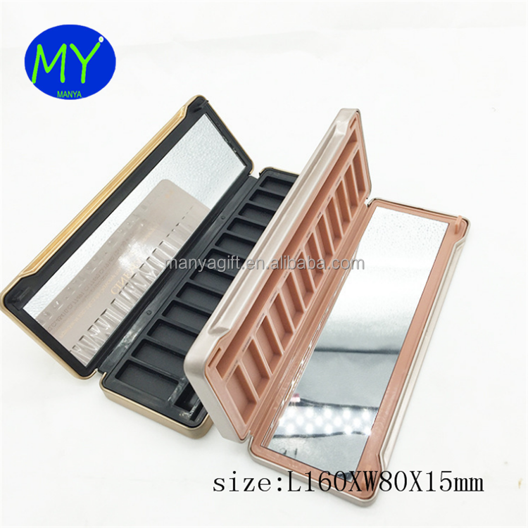 12Colors Smoky Edition Eyeshadow Palette Cosmetic Metal Tin Box Customization