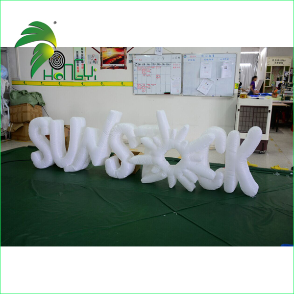 LED Lighting Inflatable Font, Air-sealed Giant Inflatable letters For Display