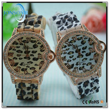 Promotion price alloy metal colorful strap geneva beautiful ladies watch