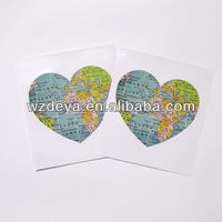 2014 Newly Heart World Map Wall Sticker