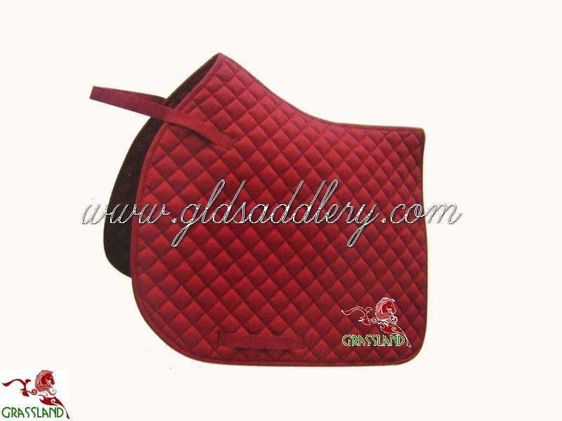 Fashion design horse riding pad red polycotton saddle