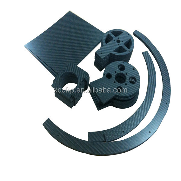 CNC cut 3k CFRP sheet/plate carbon fiber parts for FPV and helicopter