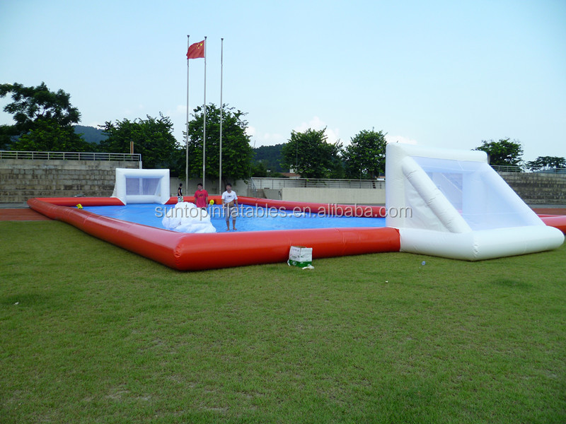 large inflatable soap football field with high quality